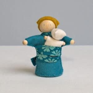 Olga et son bébé,petits personnages à faire soi-même