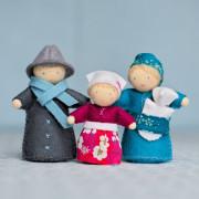Une famille, kit couture de petits personnages Waldorf à faire soi-même