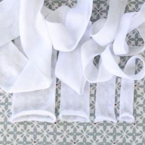 tube 6cm-tube 4cm- tube 3cm- tube 2cm- tubes jersey blanc pour la confection des têtes de poupées Waldorf