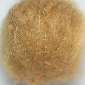 laine mohair Dolly Mo chunky caramel conçue pour la réalisation des cheveux brossés ou non des poupées Waldorf