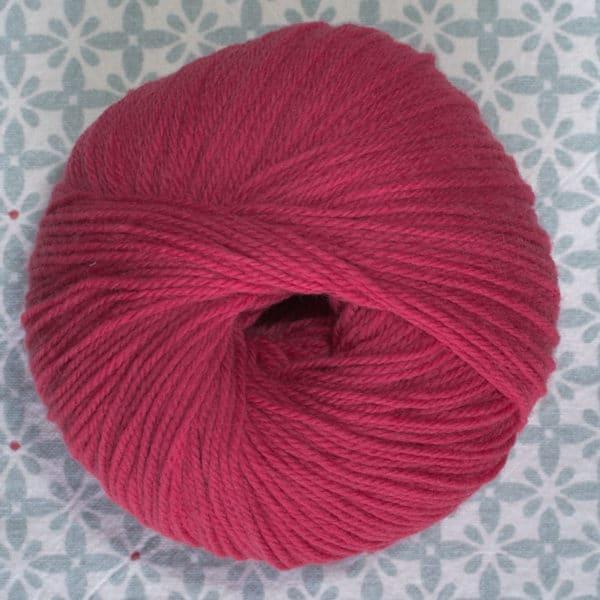 pelote de laine BB mérinos Fonty fuchsia