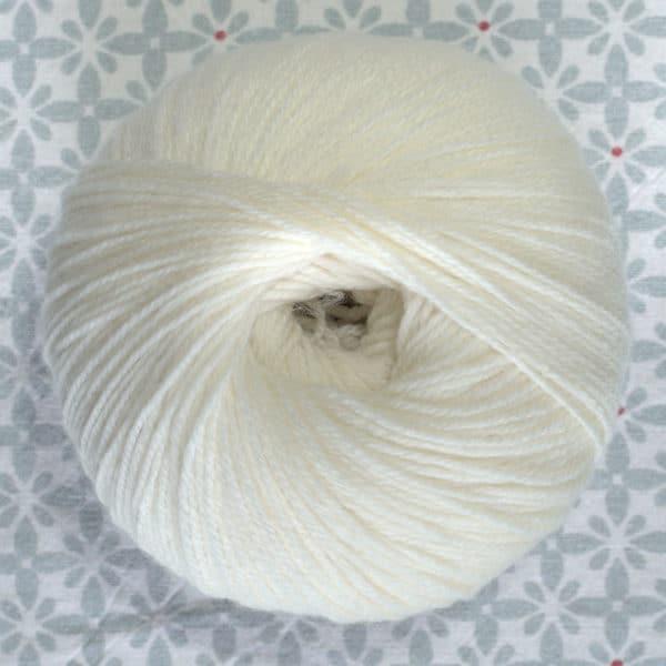 pelote de laine BB mérinos Fonty écru