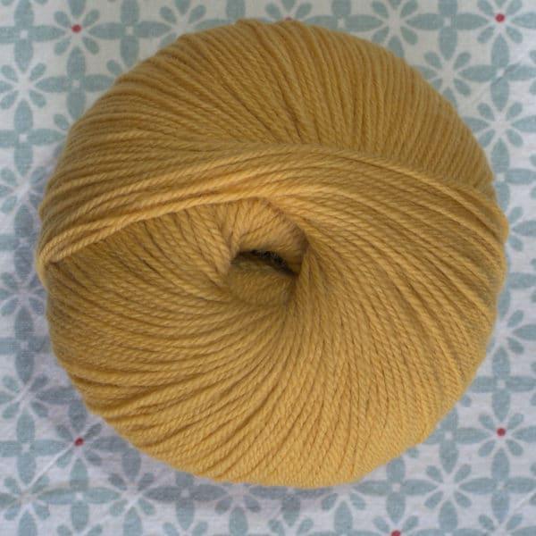pelote de laine BB mérinos Fonty moutarde
