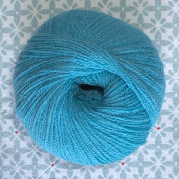 pelote de laine BB mérinos Fonty bleu paon
