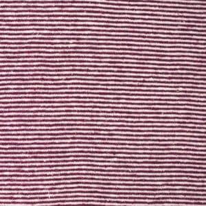 jersey fin chanvre et coton bio rayé rouge
