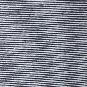 jersey fin chanvre et coton bio rayé bleu