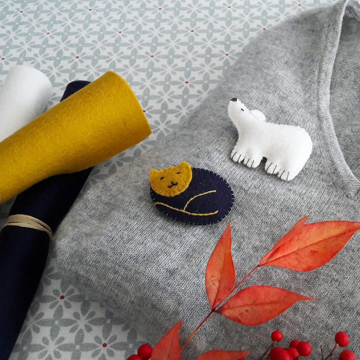 Atelier broches en feutrine de laine
