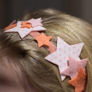 headband aux étoiles à faire soi-même