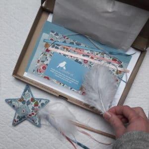 La baguette magique glacier et Liberty, un kit Pique & Colegram