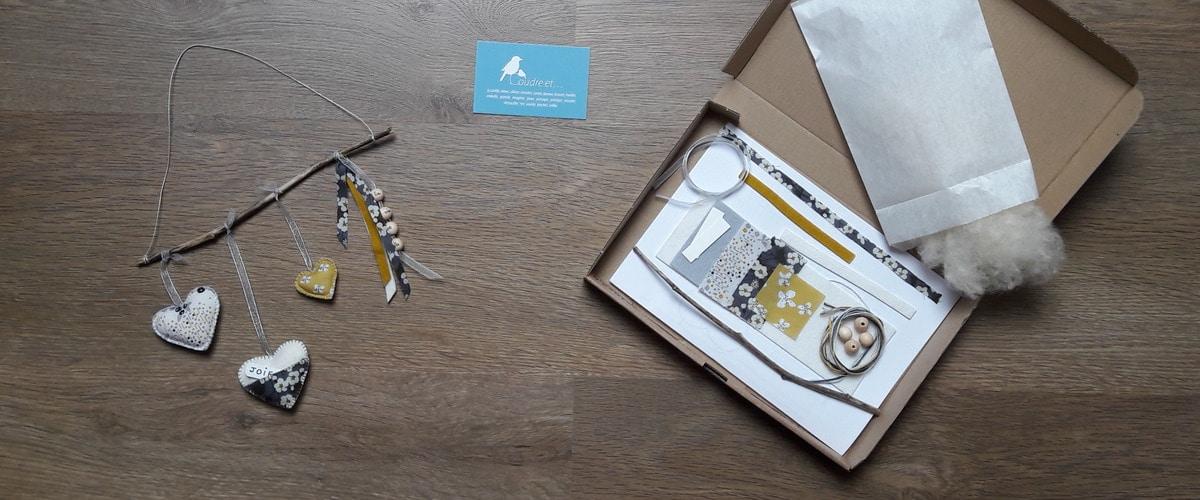 """Toujours des mots doux avec le kit du mobile """"mots doux"""" Pique & Colegram"""