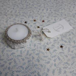 bougie avec écrin crocheté par Tisane crochet
