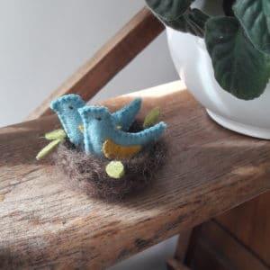 Les oiseaux dans le nid, un kit Pique & Colegram