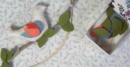 l'oiseau sur la branche, un kit Pique & Colegram