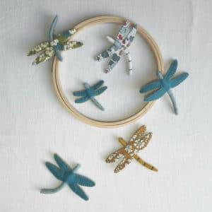 Atelier coudre une libellule avec Pique & Colegram
