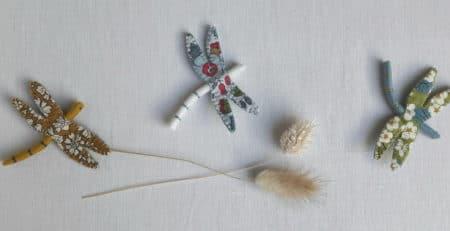 La libellule en Liberty, un modèle Pique & Colegram