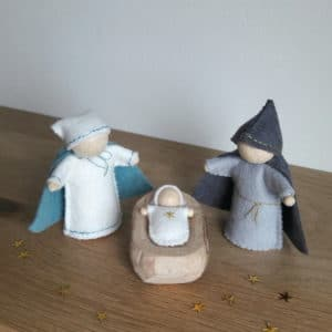 La petite crèche, un kit Pique & Colegram