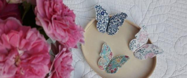 Les nouveaux papillons en Liberty de Pique & Colegram