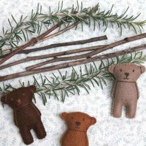 Trois petits ours, un kit Pique & Colegram