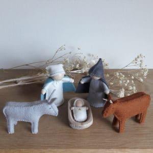 la petite crèche, l'âne et le veau de Pique & Colegram