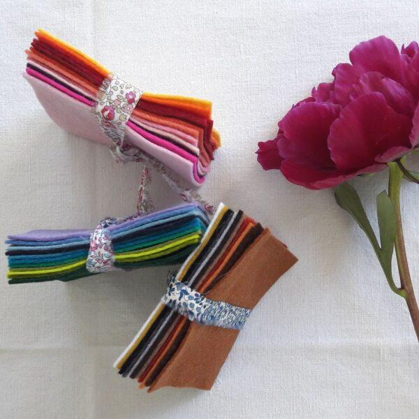 Assortiments de coupons de feutrine de laine